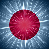Japanese flag with light rays Royalty Free Stock Photos