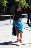 Japanese flamenco dancer 18 stock photo