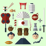 Japanese flat design icon Royalty Free Stock Images