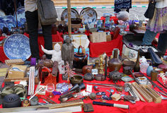 Japanese flea market Royalty Free Stock Photography