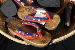 Japanese Flip-flop ( Zori Sandal ) in the Market Royalty Free Stock Photos