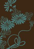 Japanese floral background Stock Images