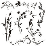 Japanese floral design series stock illustration