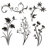 Japanese floral design series Royalty Free Stock Images