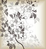 Japanese floral pattern Royalty Free Stock Images