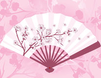 Japanese flower fan Royalty Free Stock Image