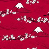 Japanese Flower Pattern Stock Images