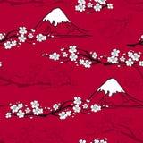 Japanese Flower Pattern Stock Images