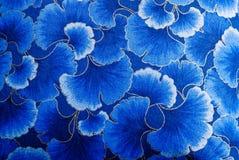 Japanese Flower Petals. Colorful Silk Japanese Blue Flower Petals Stock Images