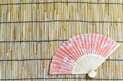 Japanese folding fan. Royalty Free Stock Photo