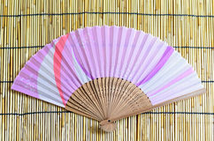 Japanese folding fan. Royalty Free Stock Photography