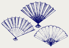Japanese folding fan Stock Images