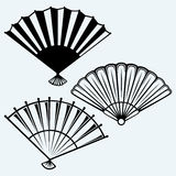 Japanese folding fan Royalty Free Stock Photo
