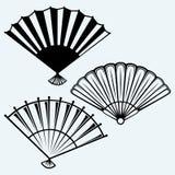 Japanese folding fan Royalty Free Stock Photo