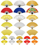 Japanese folding fans. Stock Image