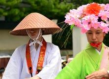 Japanese folk dancers Stock Photography