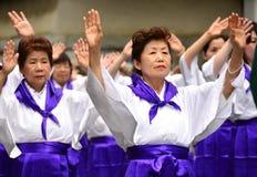 Japanese folk dancers Stock Image