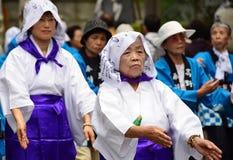 Japanese folk dancers Royalty Free Stock Image