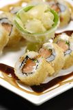 Japanese food. Typical delicious Japanese food nicely garnished on white plate Stock Images