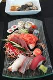 Japanese Food. Oriental Sushi Sashimi seafood Dish Royalty Free Stock Photo