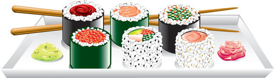 Japanese food royalty free illustration