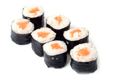 Japanese food. Traditional Japanese food on a white background Royalty Free Stock Image