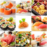 Japanese Food. Collage made from nine photographs Stock Photography