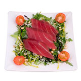 Japanese food. Fresh tuna meat with vegetables Stock Photo