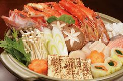 Japanese food. Japan-rich hot pot cooking Royalty Free Stock Photos