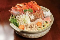 Japanese food. Japan-rich hot pot cooking Stock Photo