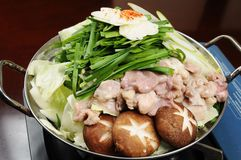 Japanese food. And hot pot Royalty Free Stock Photography