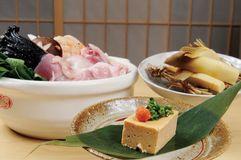 Japanese food. And hot pot Royalty Free Stock Photo