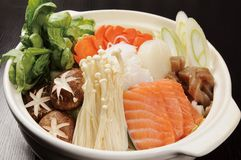Japanese food. Japan-rich hot pot cooking Royalty Free Stock Photo