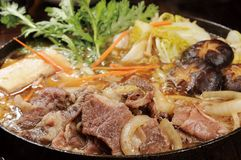 Japanese food. Japan-rich hot pot cooking Stock Photos