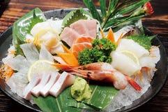 Japanese food. Japanese sashimi food on ice Stock Photo