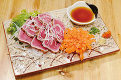 Japanese food. Meal,dip,lettuce Stock Images