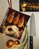 Japanese food. Still life, lobster, shrimps, glass noodles royalty free stock photography