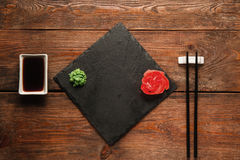Japanese food background. Served table void Royalty Free Stock Photo