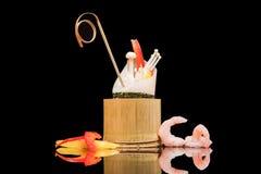 Japanese food in bamboo pot Stock Photos