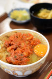 Japanese Food, Beef bowl with egg Royalty Free Stock Image