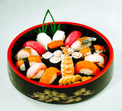 Japanese maki food bento isolated  Stock Image