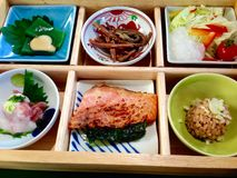Japanese food bento set Royalty Free Stock Images