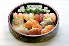Japanese Food, Bowl of Sashimi  Royalty Free Stock Photography
