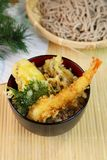 Tempura bowl. It is the Japanese food called the tempura bowl Royalty Free Stock Images