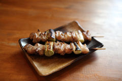 Japanese food chicken Yakitori grilled. In close up Royalty Free Stock Photos