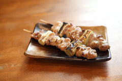 Japanese food chicken Yakitori grilled Stock Images