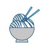 Japanese food with chopsticks Stock Image