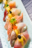 Japanese Food. Close up view of Japanese food royalty free stock photo