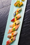 Japanese Food. Close up view of Japanese food stock photography