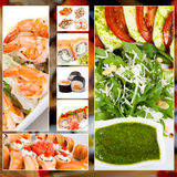 Japanese Food Collage photo Royalty Free Stock Image